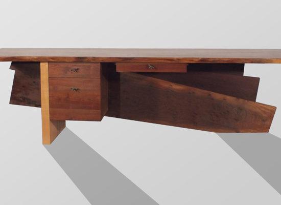 Large Walnut Desk - Front