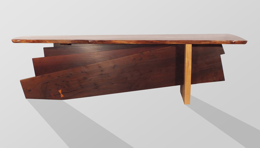 Large Walnut Desk - Back