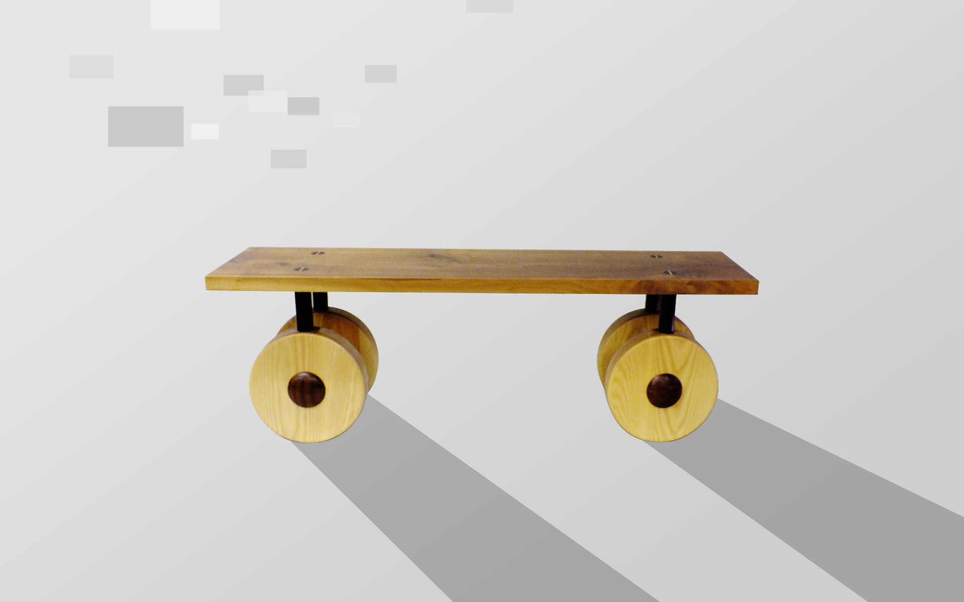 Bench With Wheels
