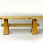 Handcrafted Wood Bench