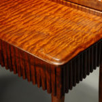 Detail Quilted Mahogany Dressing Table